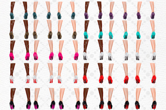 Mother and Child Clipart Legs Png Graphic Item