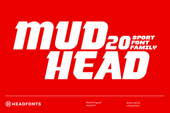 Print on Demand: Mudhead Family Display Font By Headfonts