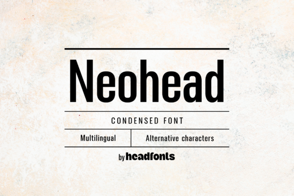 Print on Demand: Neohead Sans Serif Font By Headfonts