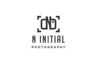 Print on Demand: Photo Camera Letter N Logo Vector Design Graphic Logos By vectoryzen