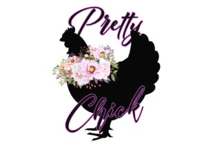 Print on Demand: Pretty Chick Design Graphic Illustrations By Stickerica Shop