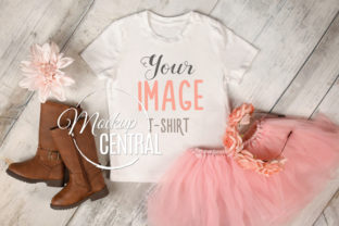Pretty Youth Girls White T-Shirt Mockup Graphic Product Mockups By Mockup Central