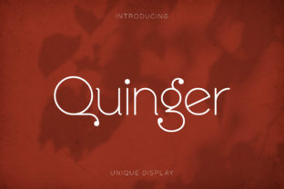 Print on Demand: Quinger Display Font By almarkhatype