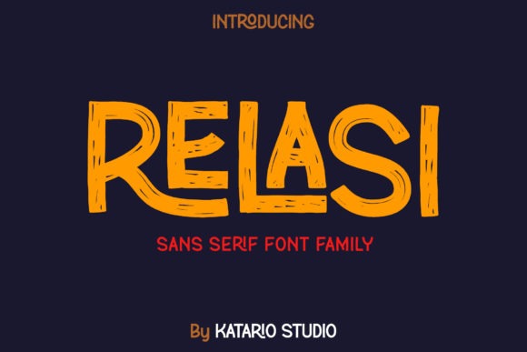 Print on Demand: Relasi Display Font By Katario Studio