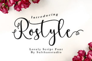 Print on Demand: Rostyle Script & Handwritten Font By Sulthan Studio
