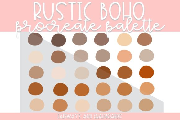 Print on Demand: Rustic Boho Procreate Color Palette Graphic Actions & Presets By Fairways and Chalkboards