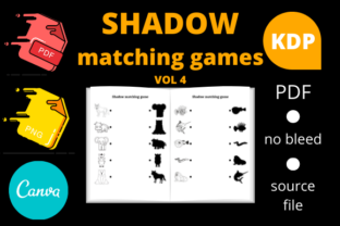 Print on Demand: Shadow Matching Games for Kids Volume 4 Graphic KDP Interiors By Dunkyshot