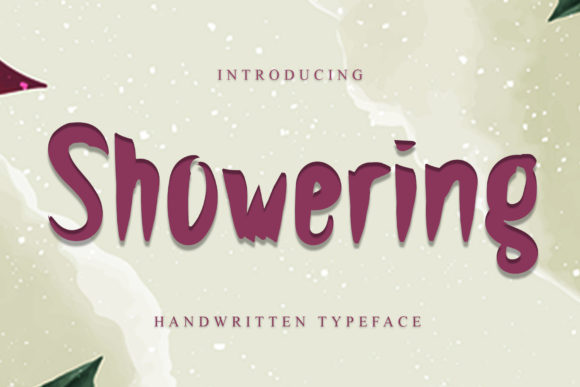 Print on Demand: Showering Display Font By dazzlinggleam