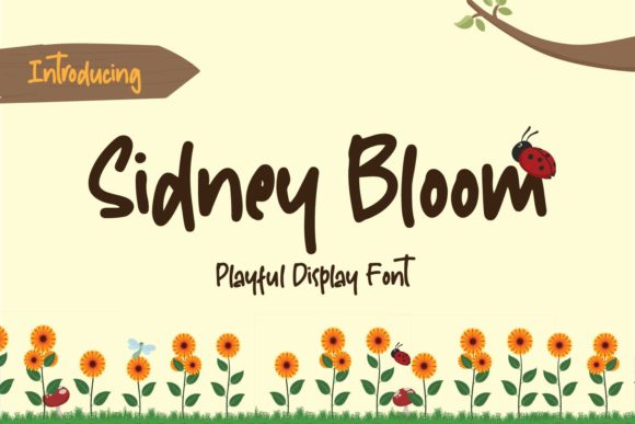 Print on Demand: Sidney Bloom Display Font By from letterel