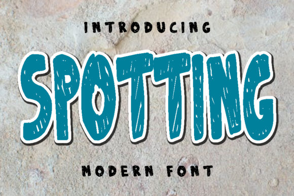 Print on Demand: Spotting Display Font By ABBAsalam