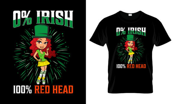 Print on Demand: St Patrick's Day T Shirt Design 258 Graphic Print Templates By merchbundle