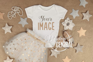 Star Baby Girl Onepiece Bodysuit Mockup Graphic Product Mockups By Mockup Central