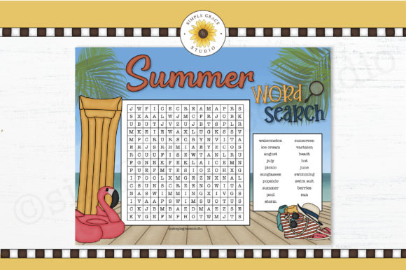 Summer Word Search Graphic Teaching Materials By Simple Grace Studio