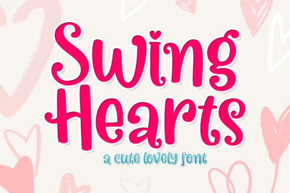 Print on Demand: Swing Hearts Display Font By Holydie Studio