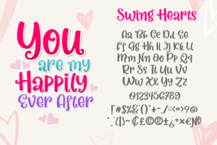 Print on Demand: Swing Hearts Display Font By Holydie Studio 2