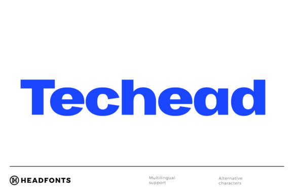 Print on Demand: Techead Sans Serif Font By Headfonts