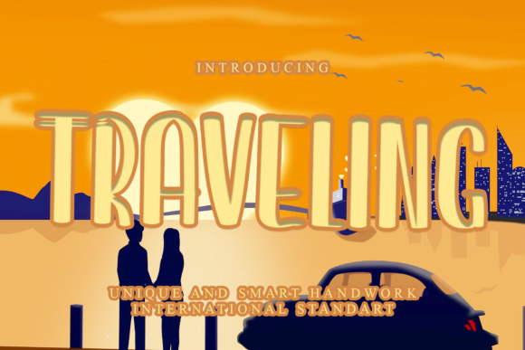 Print on Demand: Traveling Display Font By dazzlinggleam