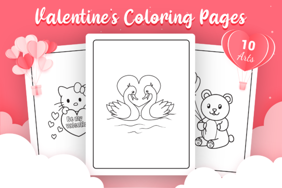 Valentine's Day Coloring Pages Graphic Coloring Pages & Books Kids By Moon