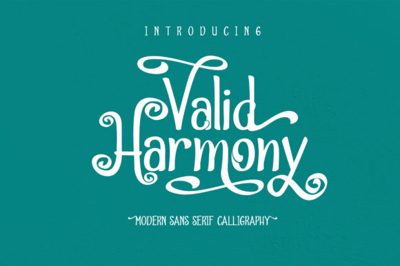 Print on Demand: Valid Harmony Display Font By Nico Muslib