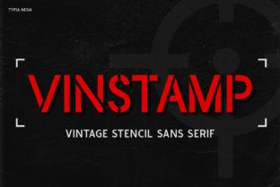 Print on Demand: Vinstamp Display Font By Typia Nesia
