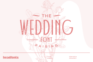Print on Demand: Wedding Pairing Display Font By Headfonts