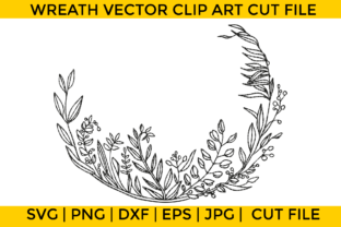 Print on Demand: Wreath Clip Art Graphic Crafts By Wicked Vectors