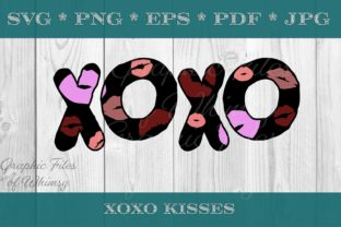 XOXO Valentine's Day Text Graphic Crafts By Designs of Whimsy
