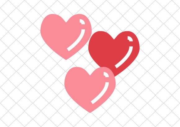 Print on Demand: Hearts Graphic Icons By hinad4467