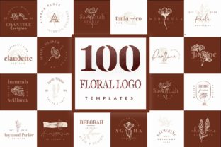 Print on Demand: 100 Logo Templates   Floral Logo Graphic Logos By GraphicDash