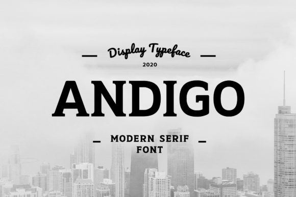 Print on Demand: Andigo Slab Serif Fuente Por uicreativenet