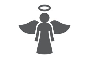 Angel Glyph Icon Graphic Icons By Fox Design