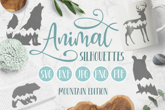 Animal Silhouette SVGs - Mountains Graphic Illustrations By Brushed Rose