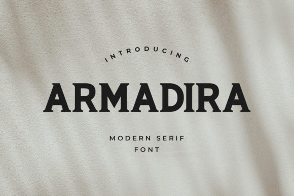 Print on Demand: Armadira Slab Serif Font By uicreativenet