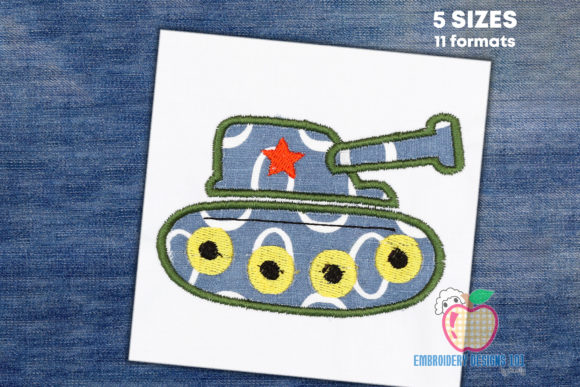 Army Tank Applique Military Embroidery Design By embroiderydesigns101
