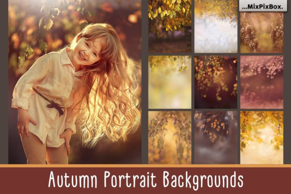 Print on Demand: Autumn Portrait Backgrounds Graphic Layer Styles By MixPixBox