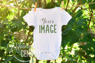 Baby Onepiece Bodysuit Nature Mockup Graphic Product Mockups By Mockup Central