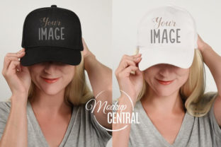 Baseball Hat Mockup on Woman JPG Graphic Product Mockups By Mockup Central