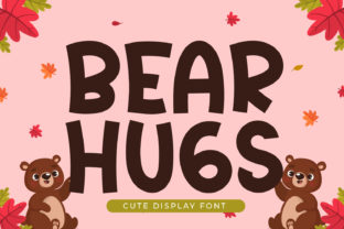 Print on Demand: Bear Hugs Display Font By OKEVECTOR