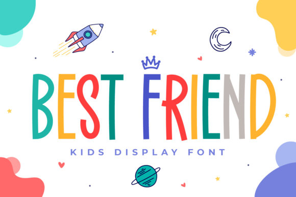 Print on Demand: Best Friend Display Font By OKEVECTOR