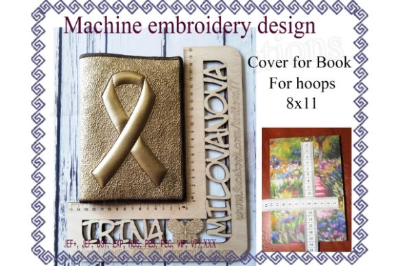 Book Cover Sewing & Crafts Embroidery Design By ImilovaCreations