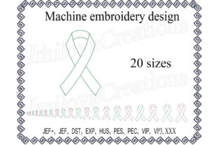 Cancer Awareness Ribbon Awareness Embroidery Design By ImilovaCreations