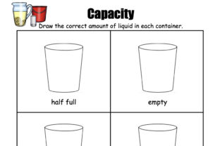 Capacity - How Full? Graphic K By Lory's Kindergarten Resources!