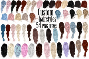 Custom Hairstyles Clipart,Hair Clipart Graphic Illustrations By ChiliPapers
