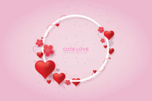 Cute Love Background Greeting Card Graphic Graphic Templates By Freshcare
