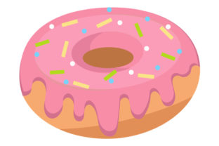 Print on Demand: Pink Vector Donut Graphic Illustrations By baturavar