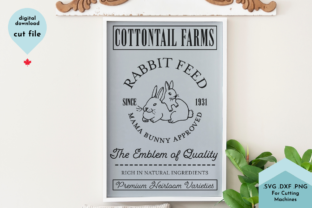 Print on Demand: Eater Sign -Vintage Farm - Rabbit Feed Graphic Crafts By Lettershapes