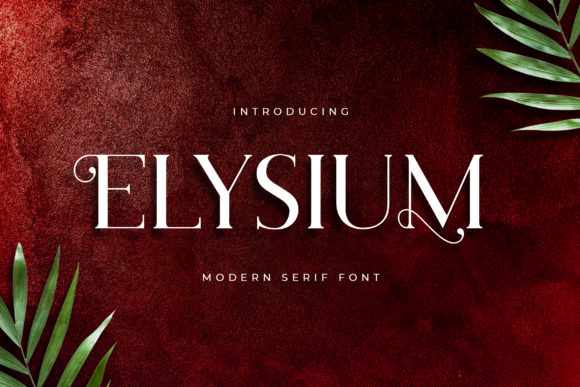Print on Demand: Elysium Serif Font By uicreativenet