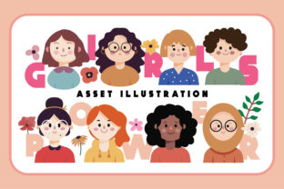 Print on Demand: Girls Power Asset Illustration Graphic Illustrations By Caoca Studio