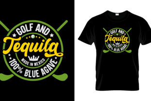 Print on Demand: Golf of Tequila T Shirt Design Vector Graphic Print Templates By merchbundle