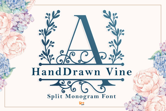 Print on Demand: Handdrawn Vine Decorative Font By dmletter31